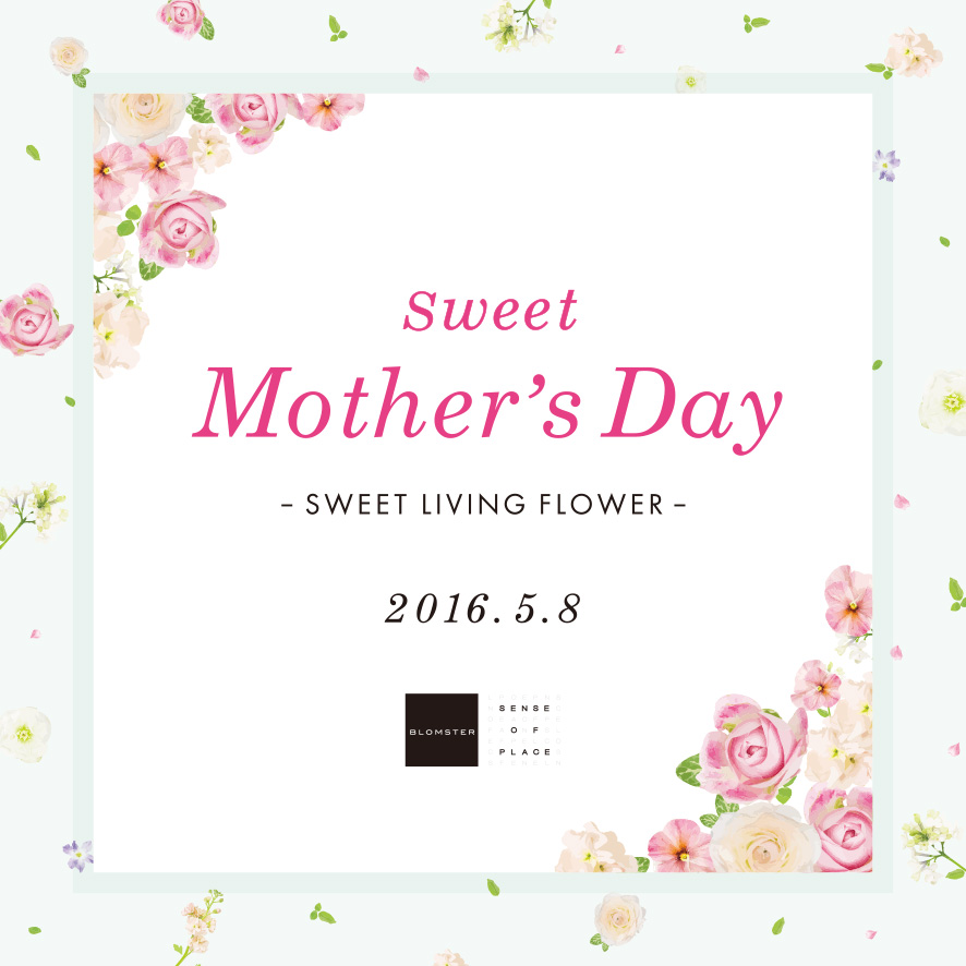 Sweet Mother's Day -SWEET LIVING FLOWER-