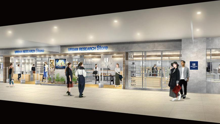 2017年4月17日(月) 名古屋駅前「タカシマヤ ゲートタワーモール」にURBAN RESEARCH Store・SENSE OF PLACEがグランドオープン!