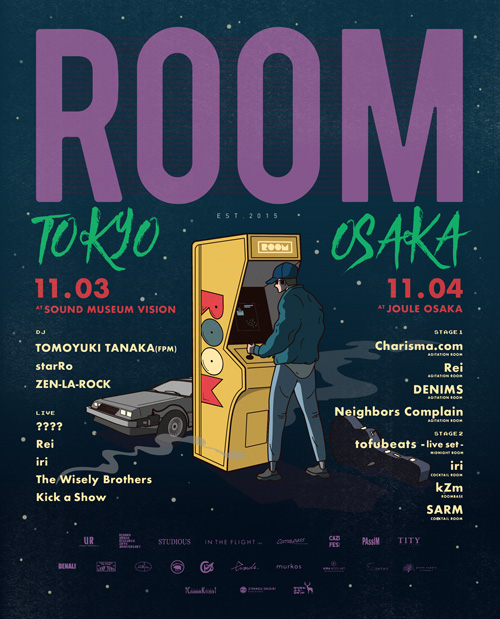 インドアフェス「ROOM」の東京・大阪連日開催が決定!