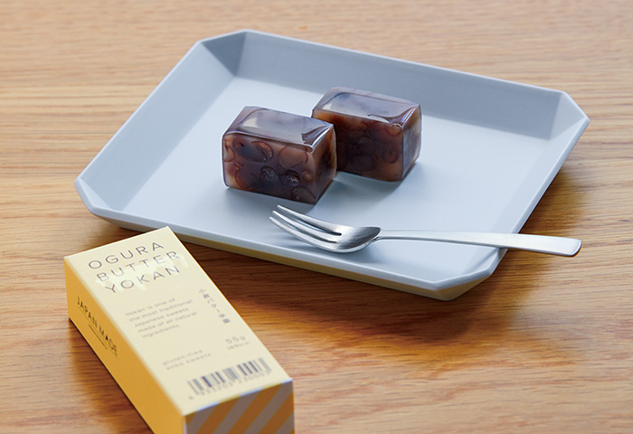 "JAPAN MADE PROJECT ""KYOTO"" <br>あんこ菓子専門店「都松庵」と小倉バター味の羊羹を共作 <br>4月9日(金)より販売開始"
